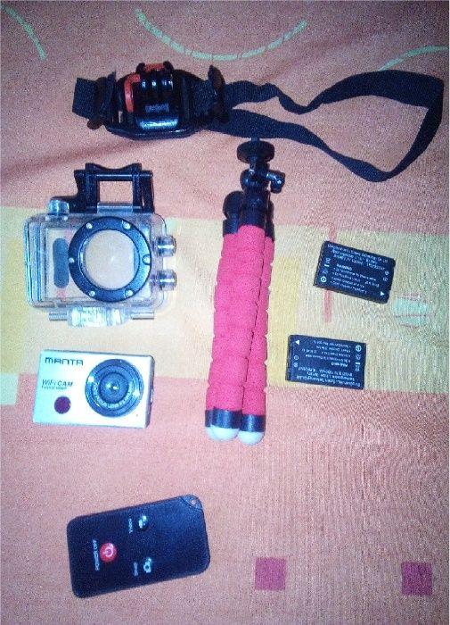 Kamera sportowa Manta. Full HD. WiFi + 2 baterie + akcesoria Zielona Góra - image 1