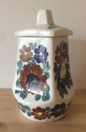 Porcelana ceramika dzbanek Włocławek PRL ręcznie dekorowany Kamińska