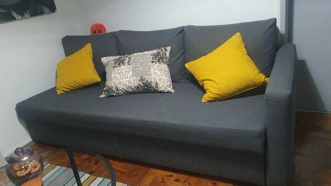 Sofá Cama em tecido Cinzq