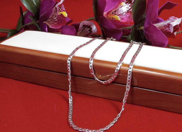 Śliczny srebrny łańcuszek 12,36G