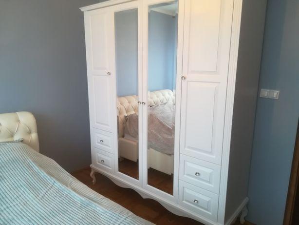 szafa biała ludwik z lustrami