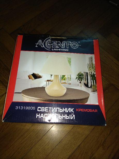 Світильник настільний новий настольная лампа кремова керамічна