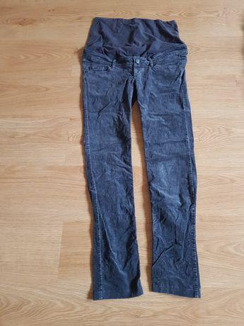 Sztruksowe spodnie ciążowe rozmiar 40 H&M szare