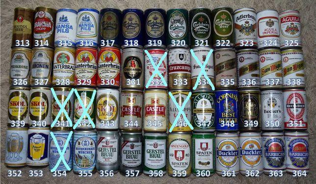 Latas vazias de bebidas variadas 07, para coleção ou decoração.