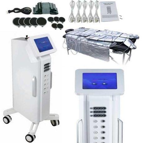 Pressoterapia com Eletroestimulação mais Infravermelho Digital