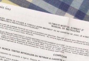 Instruções em português super Nintendo snes ultimate mortal kombat