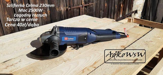 Szlifierka 230mm i 125mm Celma Wynajem. Tarcza gratis.