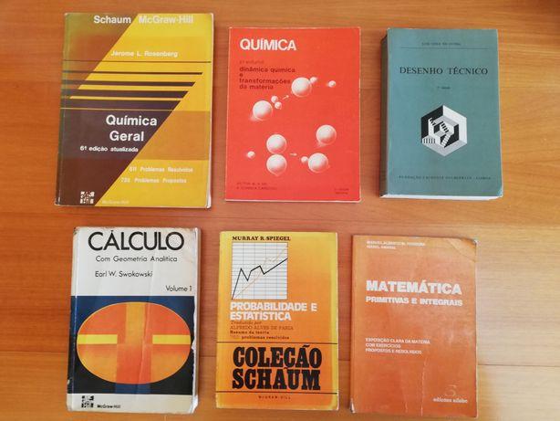 Livros Engenharia Matemática Desenho Química