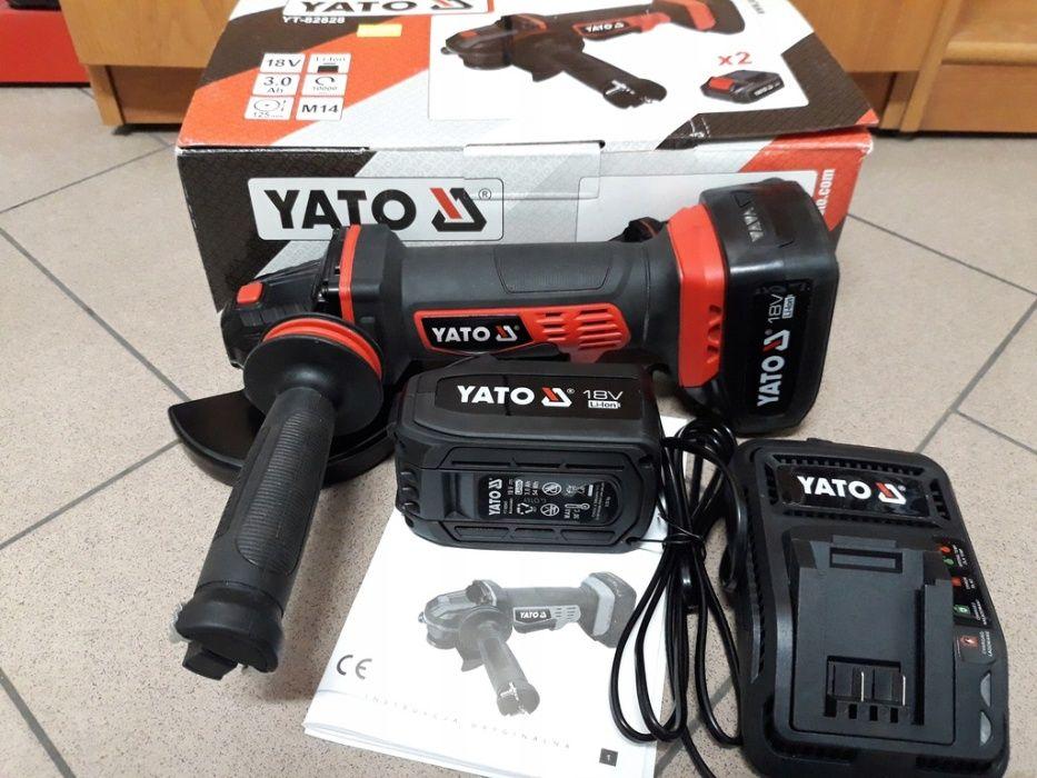 Шлифмашина угловая аккумуляторная YATO YT - 82828 Балгарка новая! Харьков - изображение 1