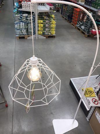 Obi Okazja Lampa podłogowa DIAMOND biała Przeceniona z 409zł