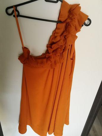 Sukienka ruda h&m m