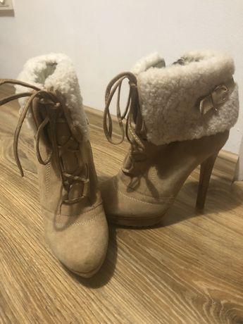 Демисезонные замшевые ботинки
