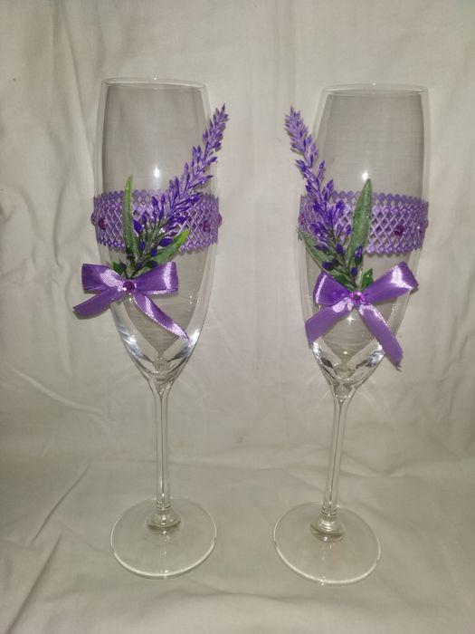 На заказ оформляю свадебные бокалы, свечи, шампанское Житомир - изображение 1