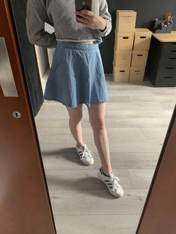 Dżinsowa rozkloszowana spódnica M