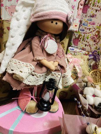 Кукла интерьерная , текстильная , подарки , ручная работа
