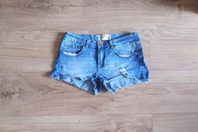 Krótkie spodenki jeansowe house xs