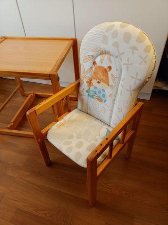 Krzesełko i stolik, krzesełko do karmienia 2w1