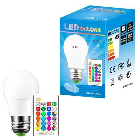 Lampada LED 16 Cores RGB diodo emissor de 5W E14