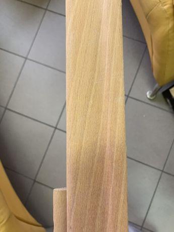 Listwy przypodłogowe drewniane fornirem buk 6 cm
