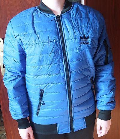 Wiosenna niebieska kurtka