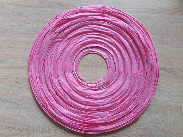 Lampa wisząca papierowa kula różowa 40 cm