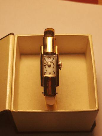 złoty zegarek CHARLES NICOLET,pr 750,bransoletka