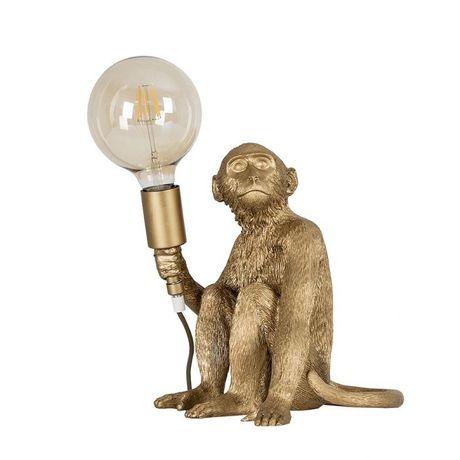 Candeeiro macaco dourado