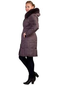 Пальто - пуховик- зимнее Decently, цвет мокко