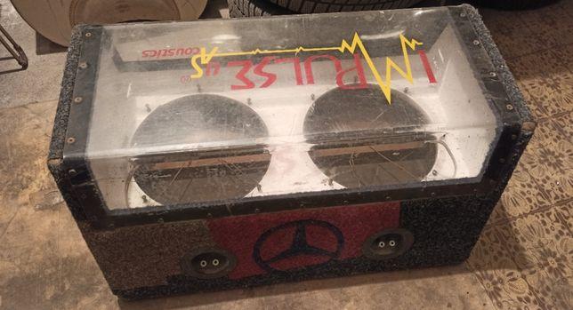 Короб для саба, сабвуфера, под два 12-ти дюймовых динамика