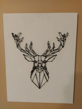 geometryczny jeleń-dekoracja handmade