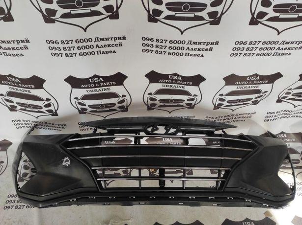 Бампер передний Капот Hyundai Elantra AD 2018-2020, решетка радиатора
