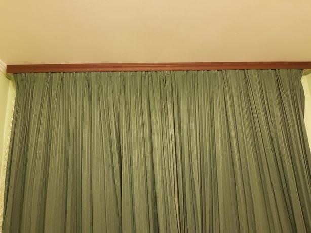 Шторы зеленые, блекаут, блэкаут 4 м, темные, плотные 2 м
