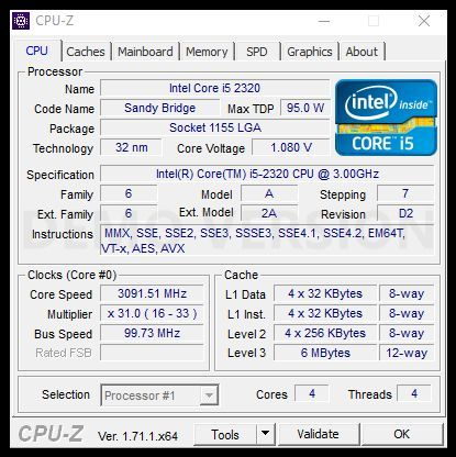 процесор Intel Core i5-2320