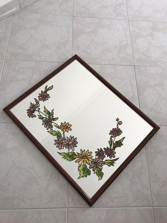 Espelho Parede Pintado à Mão Antigo