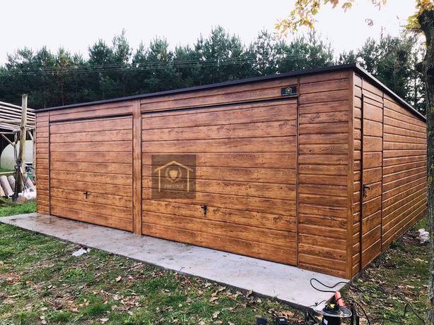 HIT!! Garaż blaszany Drewnopodobny Prestige konstrukcja z Profila