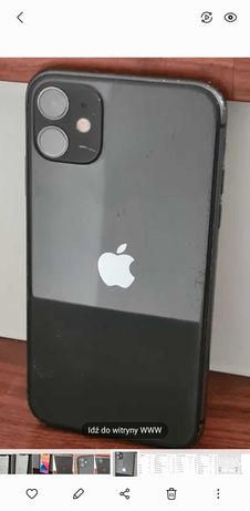 Iphone 11 64gb czarny ładny