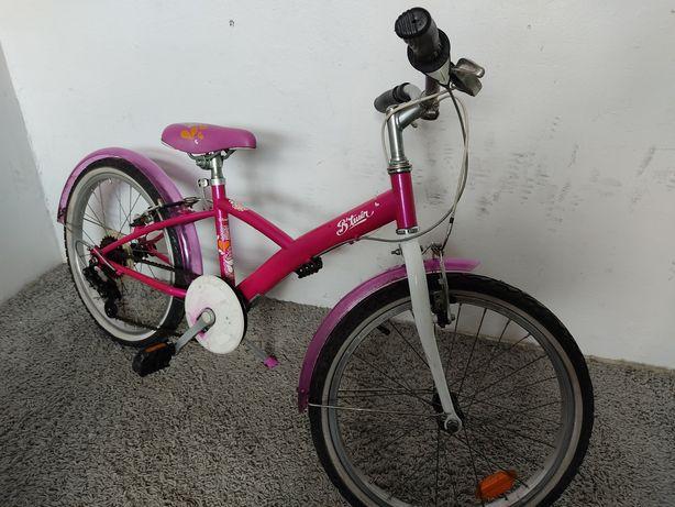 Rowerek dziecięcy dla dziewczynki 6-8 lat Btwin koła 20 cali