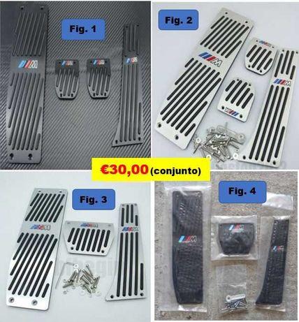 KIT Capas Pedal ///M BMW Caixa Manual ou Automática