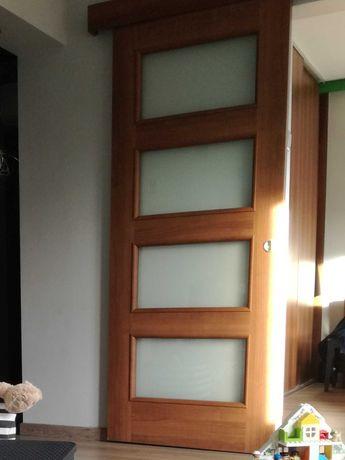 Porta Nova orzech 3 drzwi przesuwne dwuskrzydłowe 160x200 2x 80x200