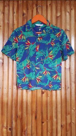 Стильная летняя рубашка Mango для мальчика. Літня сорочка для хлопчика