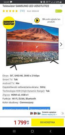 Telewizor SAMSUNG LED 50cali oraz PS4 500GB +2kontroller.(Gwarancja)