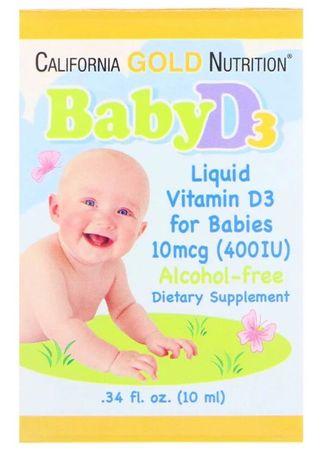 Витамин Д3 baby d3 iherb
