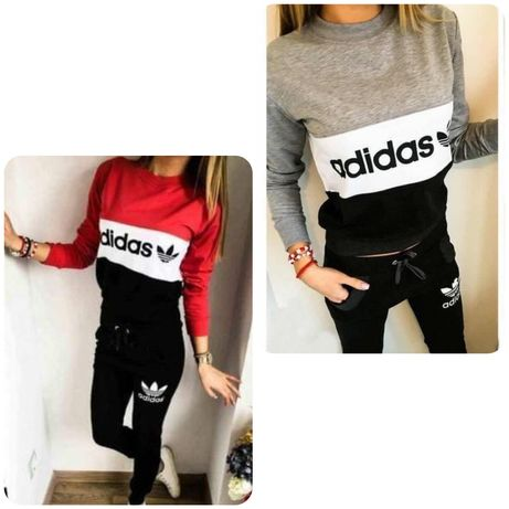 Dres zestaw sportowy damski bluza spodnie Adidas s m l xl xxl
