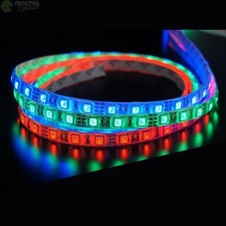Светодиодная лента 12V RGB 60LED/м влагозащитная в силиконе