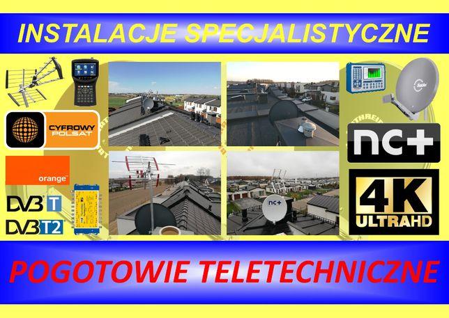 Anteny, montaż, instalacje, serwis, ustawianie, sprzedaż DVB-T, SAT.