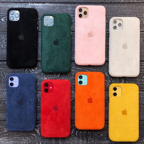 Чехол ALCANTARA FULL алькантар для iPhone 7 8 plus x xr max 11 pro max