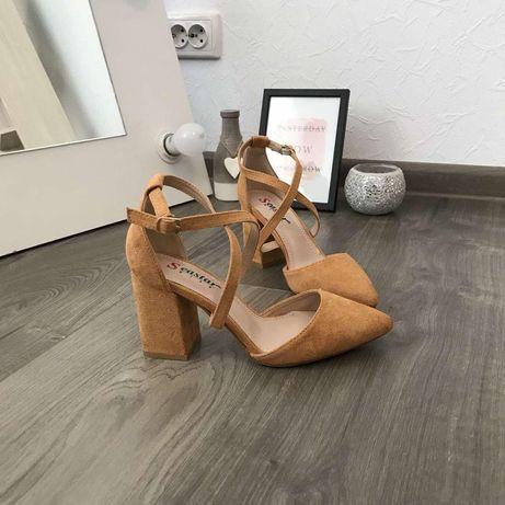 Замшевые туфли лодочки 39 размер