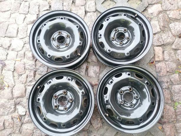 """Oryginalne felgi stalowe VW AG SKODA 14"""" 5x100x57,1 ET 35 Fabia Polo"""