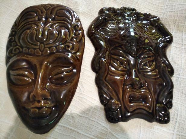 Парные настенные маски