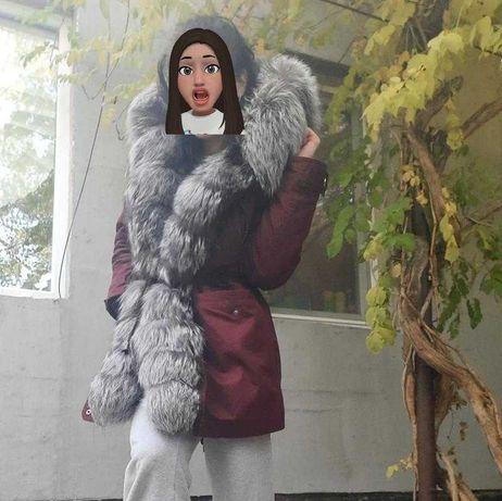 Парка, куртка чернобурка